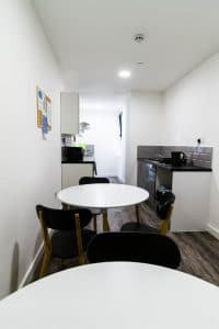 co-living kitchen at TheStudios