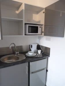 co-living kitchen studio apartments in wolverhampton