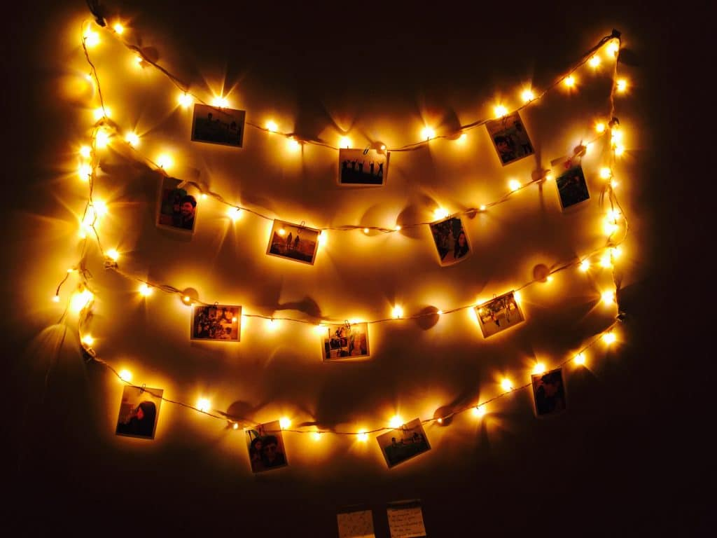 co living spaces fairy lights