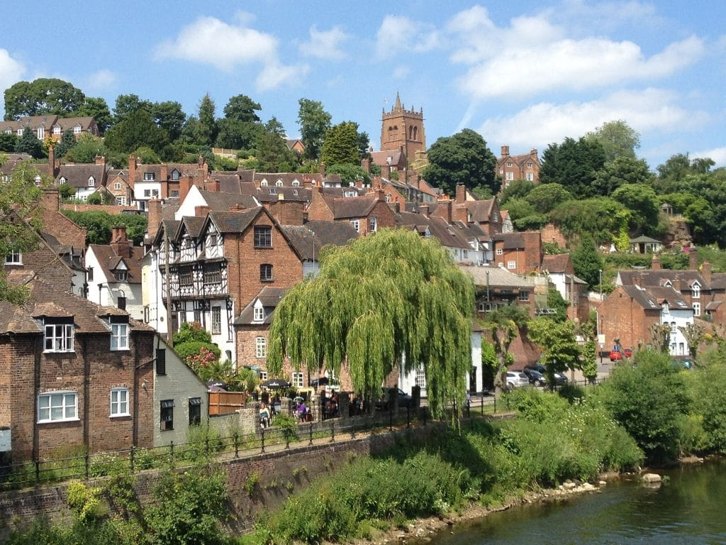 The rooftops of Bridgnorth town