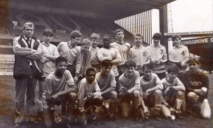 Birmingham City Youth Team, Villa Park, 1988. I'm 3rd from the right, in the front row