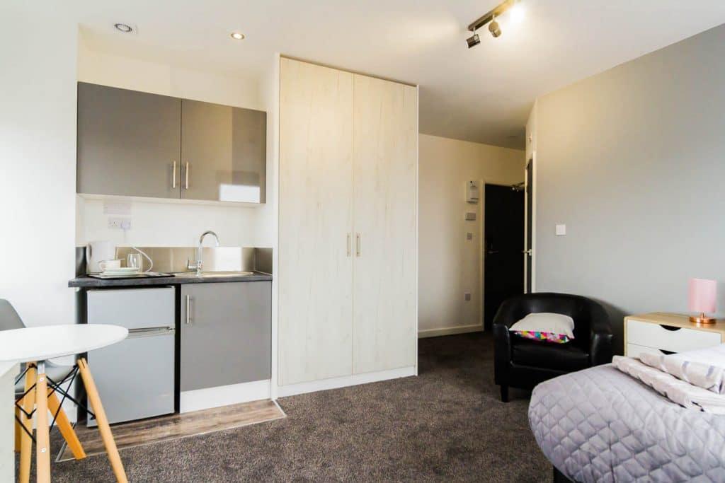 studio apartment kitchen Wolverhampton